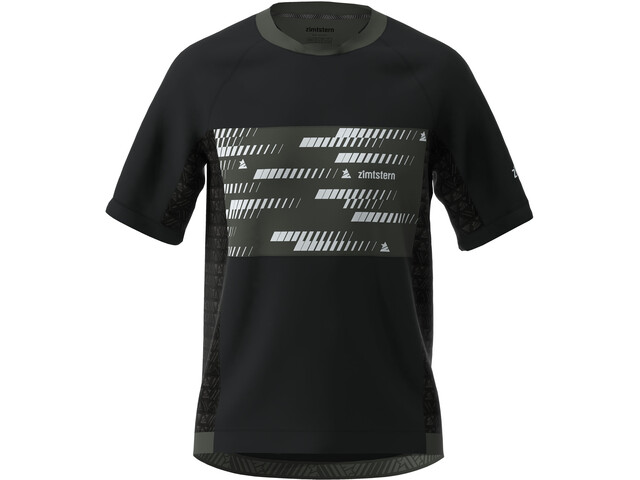 Zimtstern TechZonez SS Shirt Men, pirate black/gun metal